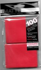 Ultra Pro MATTE Deck Protector Sleeves RED 100ct Standard NEW Fast Ship
