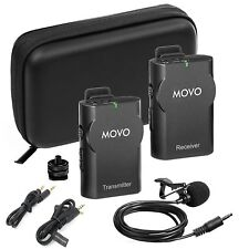 Movo WMIC10 2.4GHz Wireless Lavalier Microphone for DSLR Cameras & Smartphones