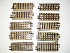 Märklin alte M-Gleis Schienen mit Mittelleiter 1/2 halbe gerade 800 3600