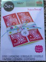 Sizzix Framelits Dies Half Card Panels by Stephanie Barnard 3 Dies 561839 New