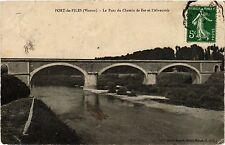CPA Port-de-Piles - Le Pont du Chemin de Fer et l'Abreuvoir (255730)