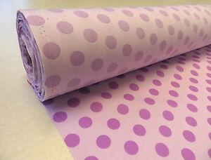 Purple Mauve 1/2 inch POLKA DOT COTTON fabric summer dress spot craft 80s 50cm