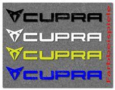 CUPRA SEAT LEON IBIZA 4 tlg. Aufkleber-Set 100mm  -30 Farben- Cupra3