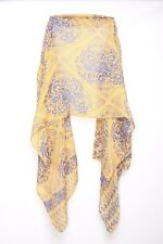 Tangerine & Blue Abstract Repetitive Pattern Casual Wear Woman's Scarf (S105)