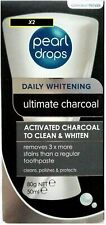 PEARL DROPS DAILY WHITENING ULTIMATE ACTIVATED CHARCOAL TOOTHPASTE 50ml x2