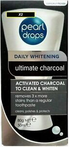 PEARL DROPS DAILY WHITENING ULTIMATE ACTIVATED CHARCOAL TOOTHPASTE 50ml x3