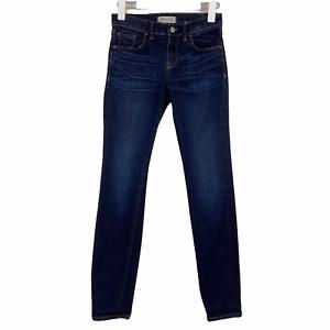Madewell Dark Blue Wash Mid Rise Skinny Stretch Women's Jeans Size 26 x 30