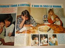 FABRIZIO DE ANDRE ' clipping articolo foto photo 1979 TORNA A CANTARE