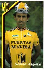 CYCLISME carte cycliste SABINO ANGOITIA équipe PUERTAS MAVISA