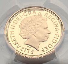 Queen Elizabeth 11 1998 proof gold half sovereign - PCGS PR69-Deep cameo