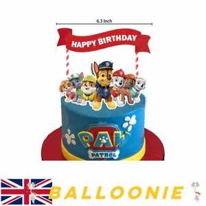 Paw Patrol Cake Topper Cake Decoration Happy Birthday Party Celebration Unisex