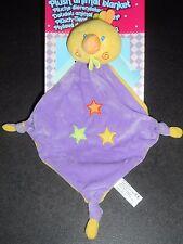 Doudou Plat Oiseaux Poussin Canard Jaune Violet Etoiles Brodées GMBH Neuf 2 Disp