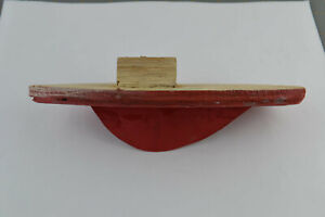 Vintage Wooden Boat Hull Tug Boat Shaped Ship Body Bottom Toy Rudimentary Made