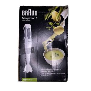 Braun MQ300 Multiquick 2-Speed Hand Blender - White- New