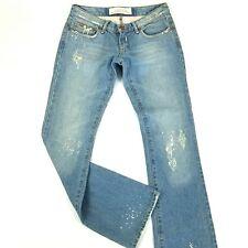 Joe's jeans womens 27 blue boot cut denim cobain hidden floral rose embroidery