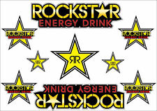Rockstar Energy Drinks Logo Sheet Stickers Decals Adhesive Set 9 Pcs