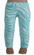 """Made in USA Teal Zebra Print Leggings fits 18"""" American Girl Doll Clothes"""