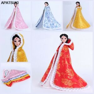 """Chinese Ancient Cloak For 11.5"""" 1/6 Doll Clothes Overcoat Mantle Big Hide Cover"""