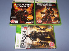 Gears of War 1, 2 & 3 / XBOX 360 / UK PAL / English / Very Good Condition