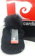 Cappello donna PIERRE CARDIN con pon pon di pelliccia sintetica