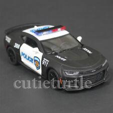Kinsmart 2017 Chevy Camaro ZL1 1:38 Diecast Toy Car KT5399DPR Police Black White