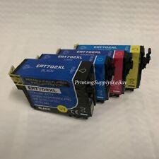 1/4PK Hi-Yield BKCMY Ink For Epson 702XL T702XL WorkForce Pro WF3720 WF3730 3733