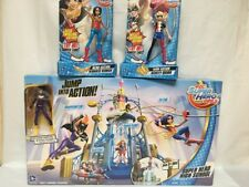 DC Super Hero Girls High School Play Set Bonus Batgirl Wonder Woman Harley Quinn