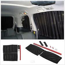 2X 70cm Black Car Sun Shade Curtain UV Proof Window Mesh Style Curtain Sun Visor