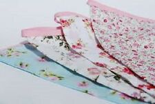 Classic Vintage Shabby Chic Floral Cotton Fabric Bunting Garland 12 Flags 3.15m