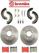 Mercedes W115 / W123 240D 74-83 Rear Disc Brake Rotors Pads & Shoes Kit Brembo