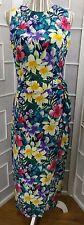 Sz 4 Maggy London 100% Silk Floral  Scoop Neck Sleeveless Maxi Dress