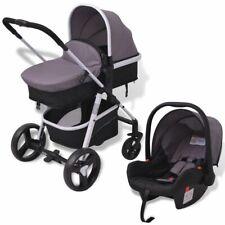 vidaXL Kombi Kinderwagen 3-in-1 Aluminium Buggy Autositz Babywanne Babyschale