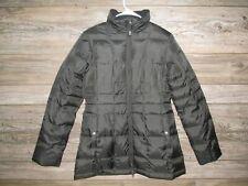 Eddie Bauer Women's Small Black Premium Goose Down Long Puffer Winter Coat