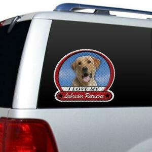 I Love My Labrador Retriever Picture Large Window Film Car Truck Decal Sticker