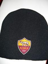 Strick-Mütze/Beanie schwarz AS Rom  Fussball Fanartikel