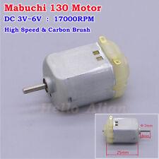 DC 3V 5V 6V 17000RPM High Speed Carbon Brush Mabuchi 130 Motor DIY Toy Car Boat