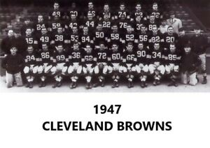 1947 CLEVELAND BROWNS  8X10 TEAM PHOTO NFL FOOTBALL PICTURE