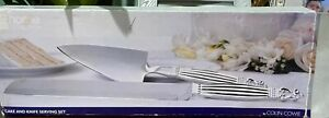 Colin Cowie Home Collections Cake And Knive Server Set. Name Engraved Stephanie.