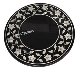 16 Inches Marble Corner Table Marquetry Art Coffee Table Top for Home Furniture