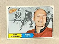 1968 Topps Hockey #025 Gary Bergman Detroit Red Wings