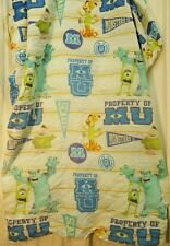 Disney Pixar Monsters University Inc Bedding Fitted Twin Size Sheet Only