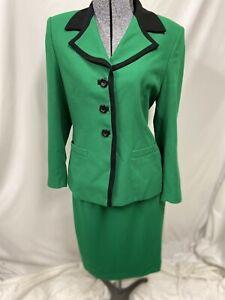 Kasper Arthur S Levine  2 Piece Set Skirt Suit Blazer Jacket Size Petite 8P