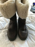 SHEARLING Leather  Winter Boots  Size 8m made in canada  Wanderlust Brown