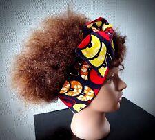 African hair scarf Kente wax cotton headband/bandana Ankara print wrap/pin up