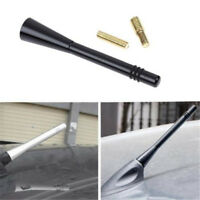 Silver Auto Car Short Stubby Antenna AM FM Radio Aerial Mast Screw Type Shan