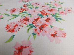Vintage Wilendur Tablecloth Shabby Pink Carnation Floral Bouquets EUC 53x50