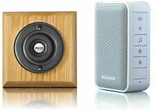 Honeywell 150m Wireless Doorbell kit with Period Wooden Plinth