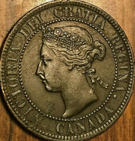 1893 CANADA LARGE CENT PENNY LARGE 1 CENT COIN - Excellent example!