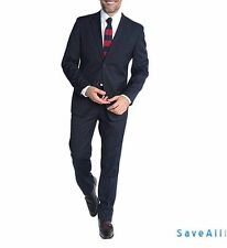NEW Braveman Men's Classic Fit Solid Two-Button Suit - Navy - Size: 38R x 32W