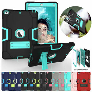 for iPad 7th Gen 10.2 Samsung Tab Case Shockproof Hybrid Rubber Stand Back Cover